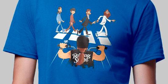 foto camiseta musical